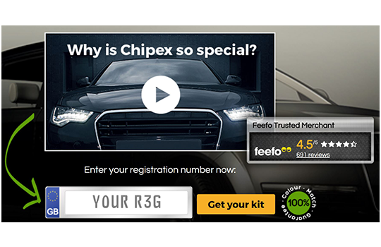 Touch up paint for your car,  try Chipex!  Enter your reg now....
